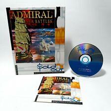Admiral Sea Battles PC CD ROM Game Windows 95/98 1996 Mega Media Corporations