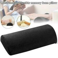 Memory Foam Half Moon Bolster Knee Neck Roll Pillow Lumbar M9Y7 Relief L9U6