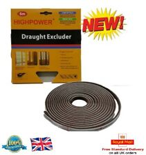 HighPower Door Window Draught Excluder Brush Pile Insulation Seal 5m Long DIY