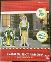 Gemmy 6 ft. Pre-lit Inflatable Excited Buddy the Elf Airblown Christmas Warner