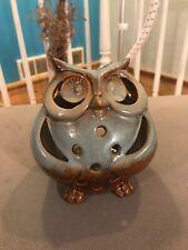Owl Tealight Lantern Porcelain Pier 1 Imports Candle Holder Brand New