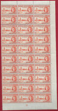 Northern Rhodesia 1946 1.1/2d red-orange block of  30 p 13.5 Victory sg 46a MNH.