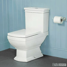 Traditional Victorian Close Coupled Toilet ; Soft Close Seat ; Bathroom WC