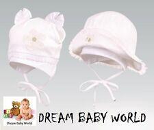 RICH Cotton girls sun hat bonnet Spring Summer TIE UP Baby CAP CHRISTENING