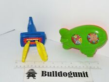 1992 Lot 2 Nickelodeon Blimp Game Applause Paws Mcdonalds Happy Meal Toy Clapper