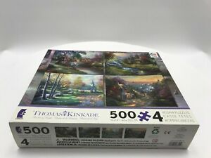 Ceaco Thomas Kinkade Jigsaw Puzzle 4-In-1 Multi-Pack 500 Pieces Each