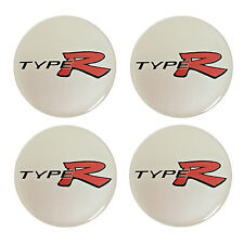 Honda TYPE-R Resin Domed Stickers for Car Alloy Wheel Centres (set of 4)