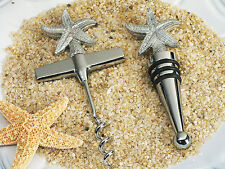 1 Beach Starfish Wine Bottle Opener Stopper Wedding Favor Set Reception Gift
