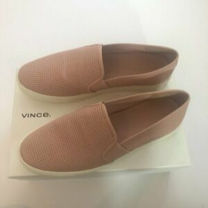NEW Vince Blair Sneaker Rose Pink Leather Perforated Slip-On Slide 9.5