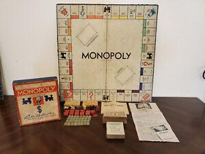 Vintage 1935 Monopoly game