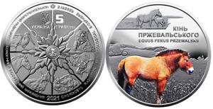 Ukraine __ 5 Hryven 2021 UNC Chernobyl - Renaissance - Przewalski's horse