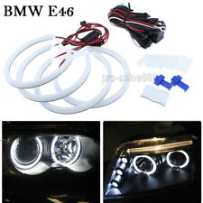 White Xenon Cotton LED SMD Angel Eyes Halo Rings Bulb Light 131MMX4 For BMW E46