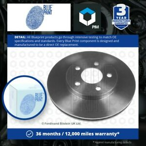 2x Brake Discs Pair Vented fits CHRYSLER SARATOGA 2.5 Front 89 to 91 EDM 257mm