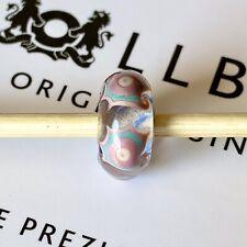 Authentic TROLLBEADS OOAK UNIQUE rare Pink Blue Metal