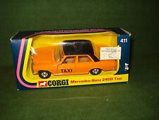 1975 CORGI MERCEDES BENZ 240D TAXI MINT IN PACKAGE #411