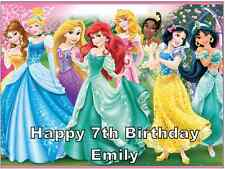 "DISNEY Principessa personalizzata a4 cake topper wafer commestibile carta 7.5"" da 10"""
