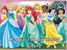 "Disney Princess Personalised A4 Cake Topper Edible Wafer Paper 7.5"" By 10"""