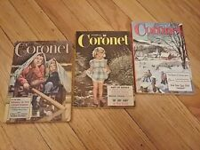 Lot of 3 CORONET Pocket Magazines January 1956, April 1947, September 1955