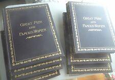 8 VOLUME SET GREAT MEN AND FAMOUS WOMEN MOZART DURER REMBRANDT CEASAR 1894 FIRST