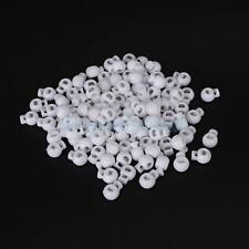 100pcs White Plastic Round Ball Cordlock Cord Lock Toggles Stopper End Stops DIY