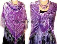 Piano Shawl Wrap Scarf Silk Burnout Velvet Lavender New MAYA SHAWLS