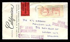 Estados Unidos 1968 Express Entrega Especial + Medidor Franqueado Sello... Hotel California Env