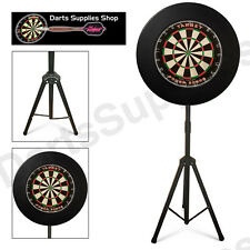 The Darts Caddy Kit, Dartboard Stand with Phil Taylor Dartboard & Black Surround