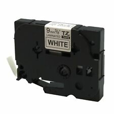 Black on White Label Tape Compatible for Brother TZ Tze 221 TZe221 9mm P-Touch