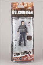 The Walking Dead Series 7 Carl Grimes McFarlane Toy Sealed on slightly bent card