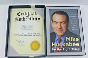 Do the Right Thing by Mike Huckabee SIGNED Collector's Edition in Gift Box NEW
