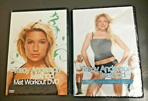 Tracy Anderson Motivational Dance Cardio & Mat Workout Fitness 2 DVDs Sealed NIB