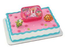 Shopkins cake decoration Decoset cake topper set party toy carry case