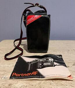 Vintage Yashica Kyocera Partner AF Automatic Focusing 35mm Film Camera with Case