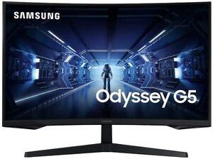 "Samsung 32"" Odyssey G5 Curved Gaming Monitor with 1000R  FreeSync Premium, QHD"