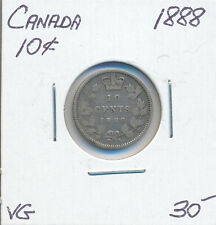 CANADA 10 CENTS 1888 - VG