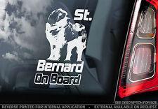 St. Bernard - Car Window Sticker - Dog on Board Sign, Saint Bernhardshund Gift