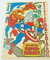 Marvel Comic Club Catalog 1969 Vintage-Kirby-Super Heroes-Thor-Thing-America