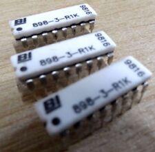 BI Technologies 898-3-R1K 8 x 1K Réseau De Résistance X 25 1000 ohm 16 Broches DIL