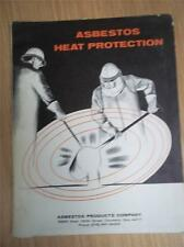 Asbestos Products Co Catalog~Heat Protection~Sample~Gloves/Coats/Hoods
