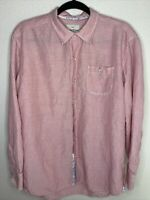 Tommy Bahama Button Up Shirt Womens Large Red Striped Long Sleeve Casual