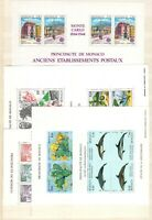 AA136442/ MONACO – MINI-SHEETS / LOT 1990 - 1992 MINT MNH CV 180 $