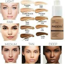Phoera Foundation Makeup Full Coverage Liquid Base Brighten Long Lasting Shade**