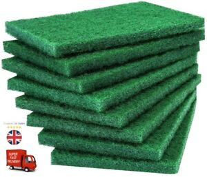 6x New High Quality Scourer Scouring Pads Kitchen Industrial Abrasive Finish Pad