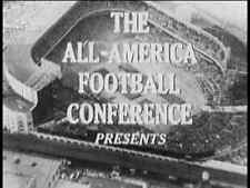1947 AAFC Championship Football Gm DVD NY Yankees vs Cleveland Browns FREE SHIP