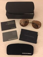 New Porsche Design Aviator Sunglasses P 1002B 59mm With Extra Set Of Lenses