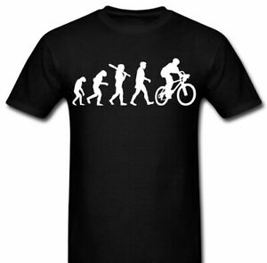 Evolution of Bike Bicycle riding t shirt Tee