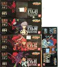 9 EVA BANDAI MODEL KITS NEON GENESIS EVANGELION LIMITED PLASTIC FIGURE LOT