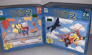 New Stuart Little 2  Set Of 2  24 Piece Puzzles By Milton Bradley