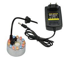 24v Ultrasonic Humidifier 12 LED Mist Maker Fogger Nebulizer Water Mist Fount…