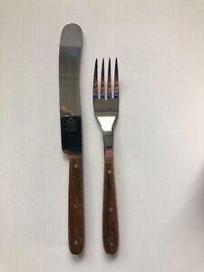 Eichenlaub Besteck Tafelbesteck Messer Gabel Ebenholz Gebraucht Windmühlenmesser